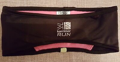 Women's Karrimor Run black and pink running thermal headband
