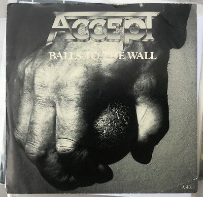 "Accept Balls To The Wall Nwobhm Promo Copy 7"" Single Picture Sleeve"