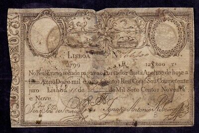 12800 Reis from Portugal 1799