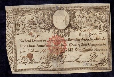 20000 Reis from Portugal 1828