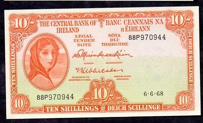 10 Shillings From Ireland 1968 Unc