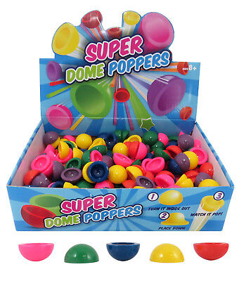 Bulk Lot  12 Super 27mm  Mini Dome Poppers  Party Favor Toy Novelty