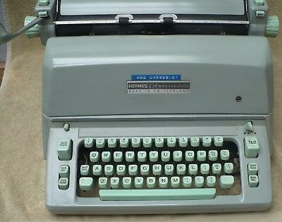 Vintage Hermes Ambassador Manual Typewriter / Works Needs Cleaned