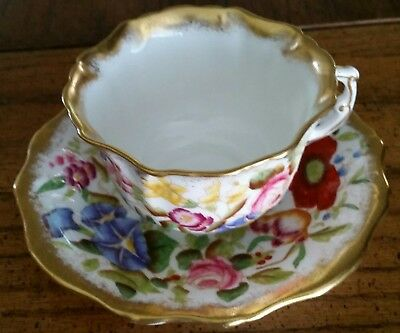 Hammersley Queen Anne Morning Glory Bone China Tea Cup & Saucer ~ Beautiful!