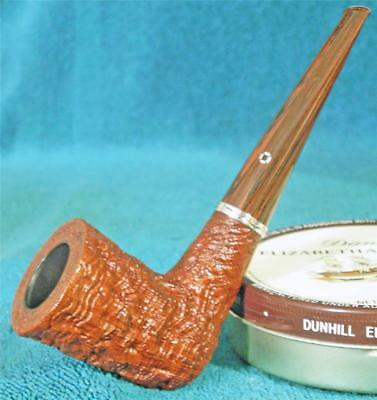 VERY MINT! LARRY ROUSH LARGE DUBLIN FREEHAND American Estate Pipe .925 SILVER