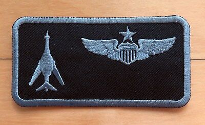 USAF 9th BS EBS B-2 Bomber Pilot GUAM Andersen AB TDY EX. Name Tag Patch