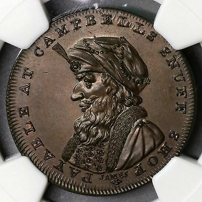 1795 NGC MS 65 Turk Snuff Conder 1/2 Penny Lothian Campbell's DH 13A (16072103D)