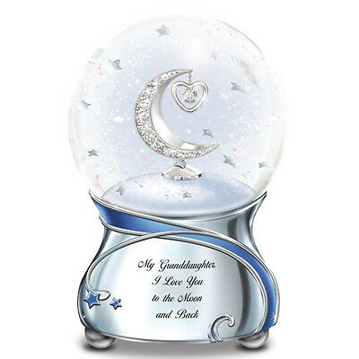 Granddaughter I love You To The Moon and Back Snow Globe / Water Globe