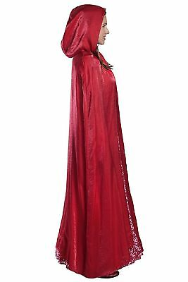Little Red Riding Hood Women's Deluxe Costume - Dress & Cape Adult - Choose Size