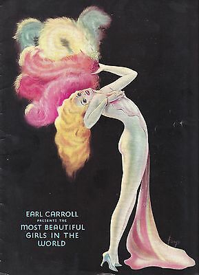 "Beryl Wallace ""EARL CARROLL VANITIES"" Final Edition 1940 Souvenir Program"