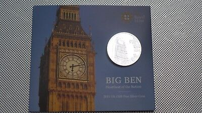 2015 Royal Mint Uk £100  Silver Coin