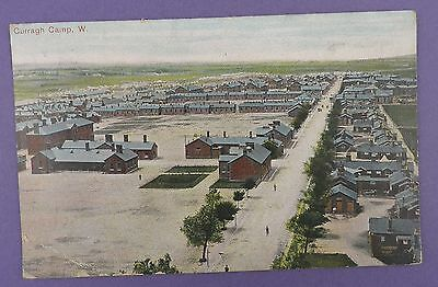 Curragh Military Camp (West) Postmarked Curragh Camp 1914 - WW1 Interest