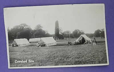 Girl Guide Camp at Cowshed Site - Foxlease , Lyndhurst,Hampshire c1930s Postcard