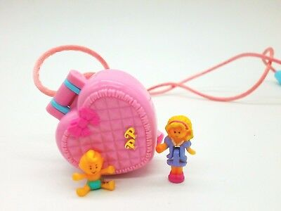 Polly Pocket Mini ♥*Baby and Ducky Locket 1993 *♥Kettchen*KOMPLETT*