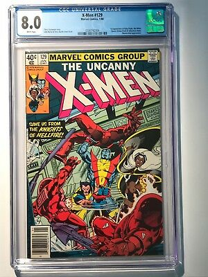 The Uncanny X-Men #129 CGC 8.0  40c - 1st KITTY PRYDE APPEARANCE 1980