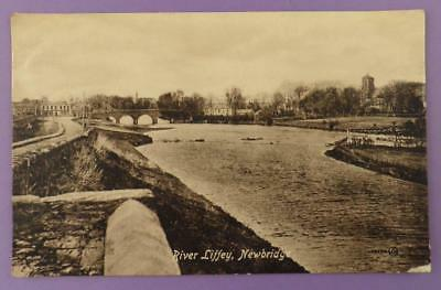 River Liffey, Newbridge Kildare - Vintage Postcard, Posted 1915