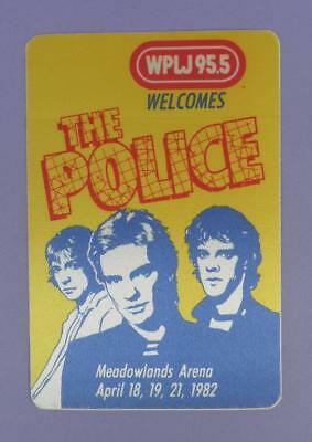 The Police - Original Backstage Pass - Meadowlands Arena 1982 - Unused Stock !