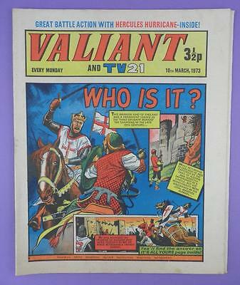 Valliant And TV21 Comic 10th March 1973, Richard The Lionheart On Cover