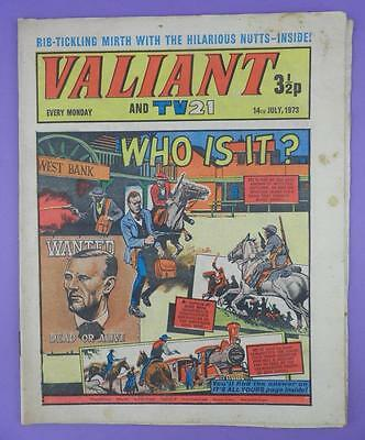 Valliant And TV21 Comic 14th July 1973, Jesse James On Cover