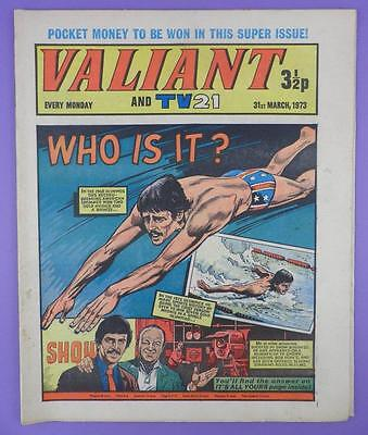 Valliant And TV21 Comic 31st March 1973, Mark Spitz On Cover