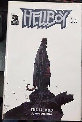 Hellboy The Island #1 To #2 Dark Horse Set Vf+ To Nm Comic Books