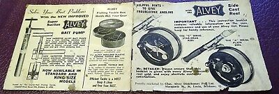 Vintage Alvey Fishing Reel Instruction Booklet 16 Pages As Photos Look Close