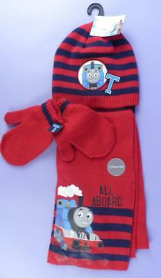 Thomas The Tank Hat, Scarf & Gloves Set, New With Tag, Boys 4-6 Years