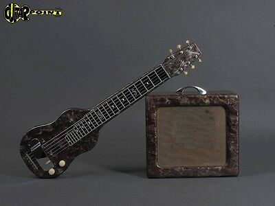 1950´s Magnatone Lapsteel + Matching Amp  - Black Pearloid  (Made in USA)