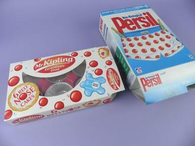 Red Nosed Day 2001 Comic Relief Packaging - Persil & Mr Kipling Boxes