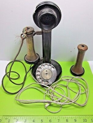 OLD 1930s VINTAGE EARLY BLACK C19 235 CANDLESTICK TELEPHONE SPARES / REPAIRS