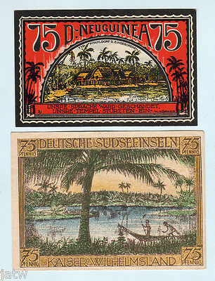 Germany - Colonial Notgeld. German New Guinea & Kaiser Wilhelm Isl.. (UNC,EF)