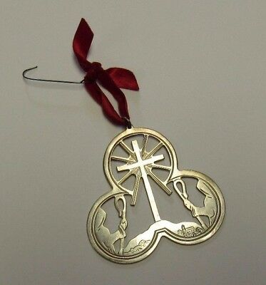 1972 Lunt Sterling Silver Christmas Ornament