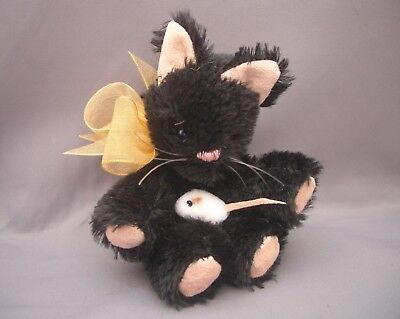 PAMS EXCLUSIVE BEARS-Miniature 4 inch Tall Mohair CAT Teddy-Perry