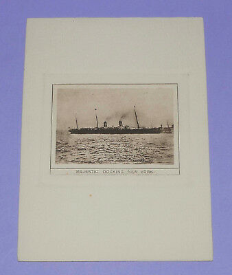 White Star RMS Oceanic Menu Card May 20th 1900. Majestic, built 1890 cover. VGC+