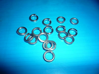 Pack of 100 ASSORTED (Mixed)  M3, M4, M5, M6  SPRING Washers A2 Stainless Steel