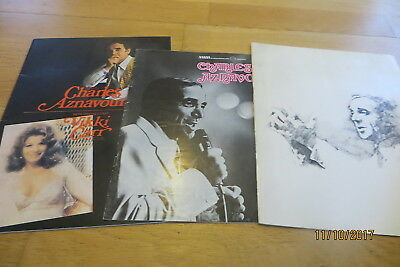 Charles Aznavour 1970s Concerts x 3