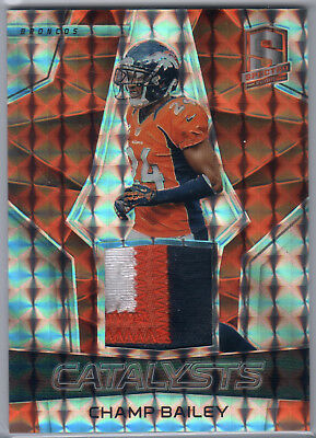 2017 Panini Spectra Champ Bailey Neon Orange Patch 1/2
