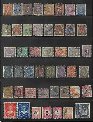 Netherlands indies - Collection of Earlier Issues - Mostly used - Mixed Cond.