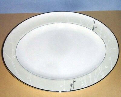"""Waterford LISETTE Oval Serving Platter 15.25"""" Bone China 136045 New In Box"""