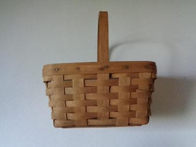 """1986 Signed Longaberger Basket With Plastic Protector 10 1/2"""" x 10 1/2"""" x 7 3/4"""""""