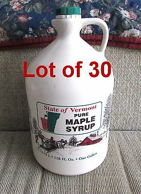 30 VERMONT Maple Syrup Plastic GALLON Jugs~SUGARHILL Extended Life Coating (XL)
