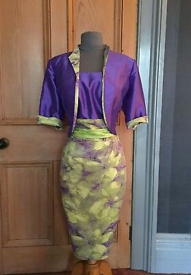 Beautiful Zeila Mother Of The Bride/evening Dress And Bolero, Size 14