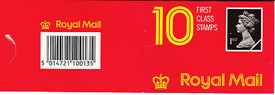 Great Britain - Harrison 10 x First Class Booklet HD1 - (A1058)