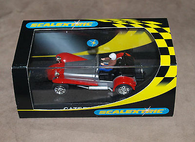 Scalextric Slot Racing Car C2271 Caterham 7 Road Trim, Red, Mint & Boxed
