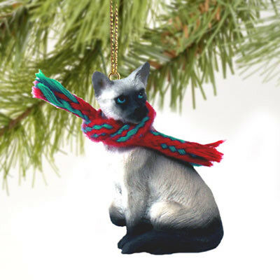 SIAMESE CAT Tiny One Miniature Christmas ORNAMENT