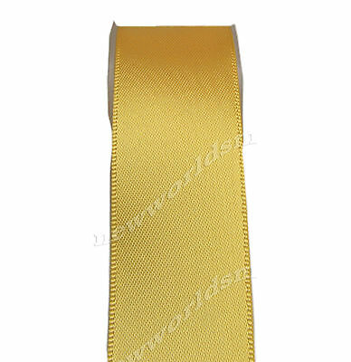"""4y 57mm 2 1/4"""" Yellow Gold Premium Single Sided Wide Satin Ribbon Eco FREE PP"""