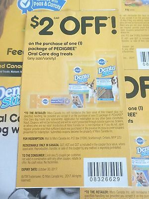 Lot Of Pedigree Oral Care Dog Treat Product Coupons