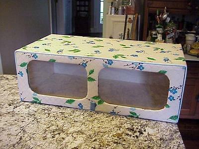 vintage QUILTED VINYL CLOSET BOX-MODEL HOME QUALITY ACCESSORIES by ENRICH