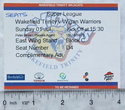 2007 ticket Wakefield Trinity v. Wigan Warriors