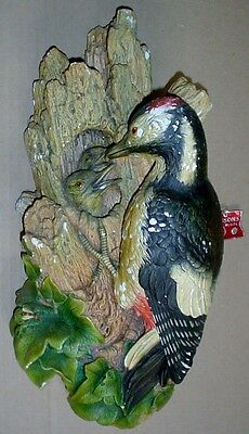 Bossons Large Vintage Woodpecker And Chicks 1968